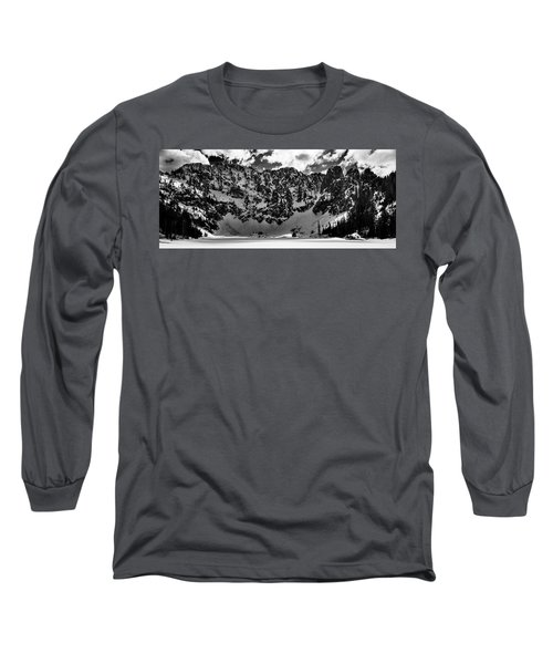 Lake 22 Winter Black And White Long Sleeve T-Shirt