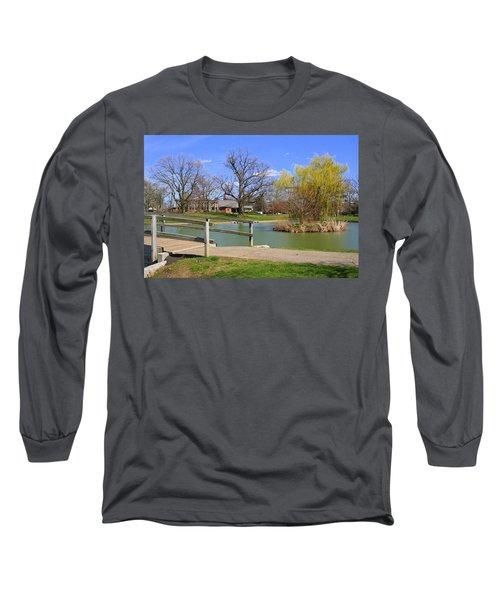 Lake At Schiller Park Long Sleeve T-Shirt