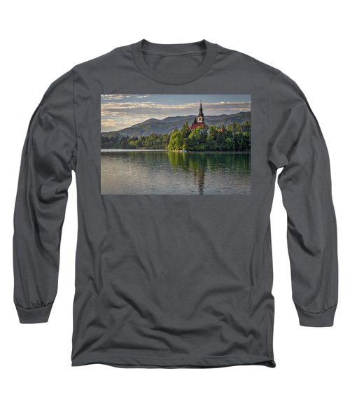 Long Sleeve T-Shirt featuring the photograph Lake Bled Morning #2 - Slovenia by Stuart Litoff