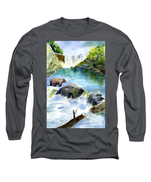 Lake Clementine Falls Bear Long Sleeve T-Shirt