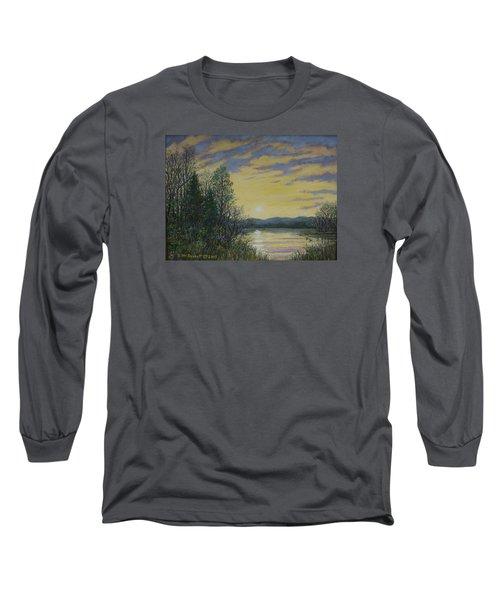 Lake Dawn Long Sleeve T-Shirt by Kathleen McDermott
