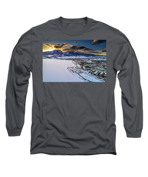Lake Dillon Sunset Long Sleeve T-Shirt by Sebastian Musial
