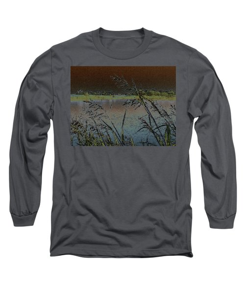 Long Sleeve T-Shirt featuring the photograph Lake  by Donna G Smith