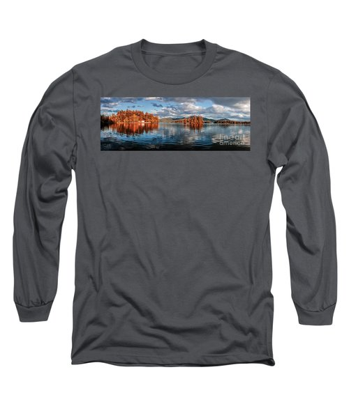 Lake George Panorama  Long Sleeve T-Shirt