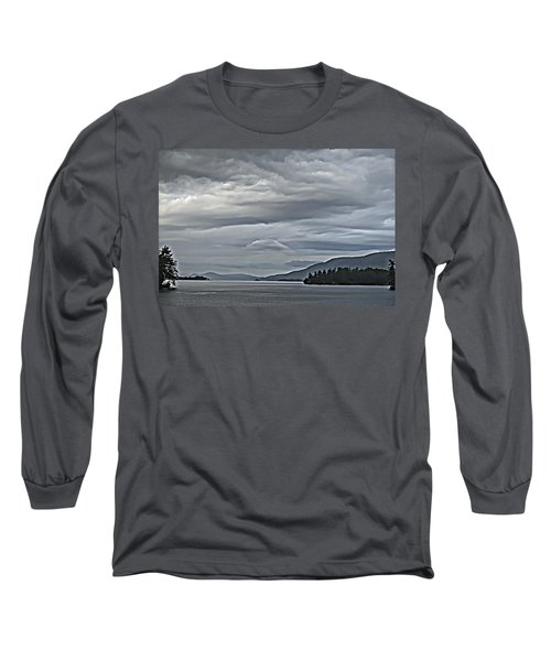 Lake George Rain And Clouds Long Sleeve T-Shirt