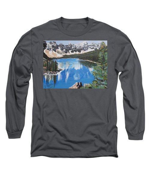 Lake Louise  Long Sleeve T-Shirt by Francine Heykoop