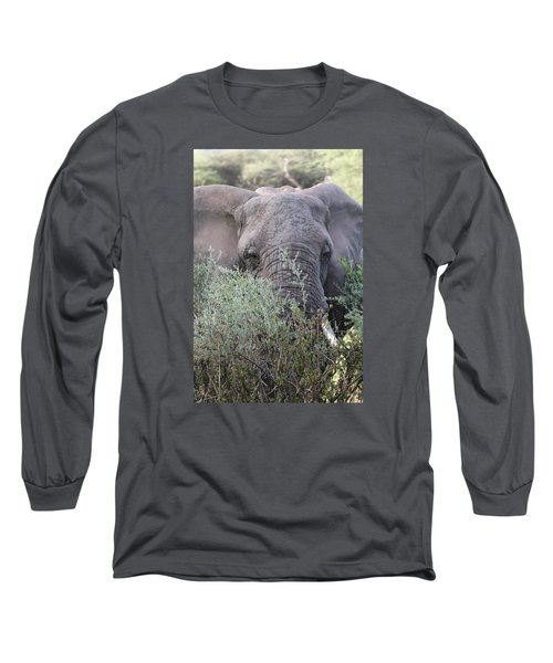 Long Sleeve T-Shirt featuring the photograph Lake Manyara Elephant by Gary Hall