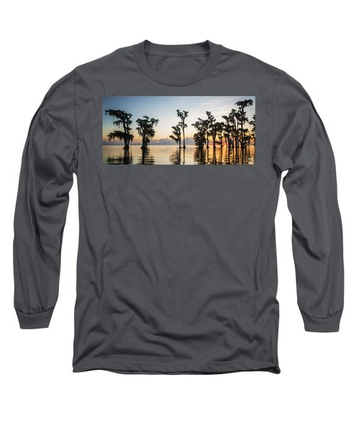 Lake Maurepas Sunrise Long Sleeve T-Shirt