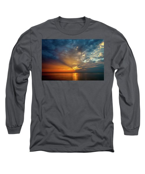Lake Michigan Sunset Long Sleeve T-Shirt
