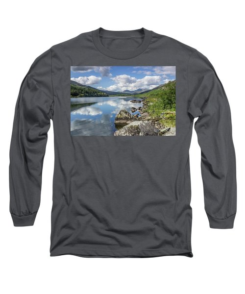 Lake Mymbyr And Snowdon Long Sleeve T-Shirt by Ian Mitchell