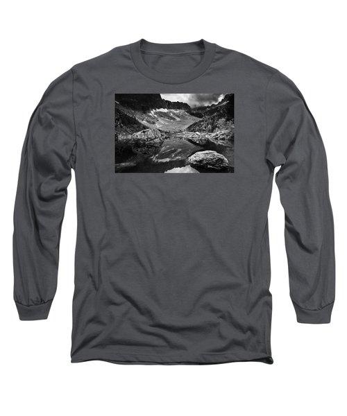 Lake Reflections Long Sleeve T-Shirt by Yuri Santin
