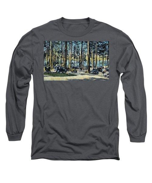Lake Shore Park - Gilford N H Long Sleeve T-Shirt by Mim White
