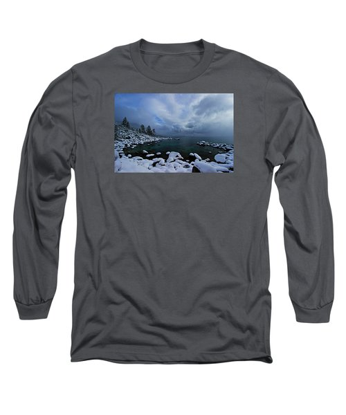 Lake Tahoe Snow Day Long Sleeve T-Shirt by Sean Sarsfield