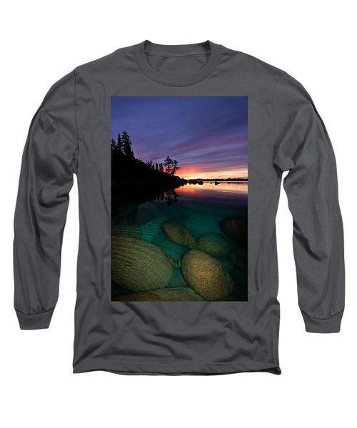 Lake Tahoe Sunset Portrait Long Sleeve T-Shirt