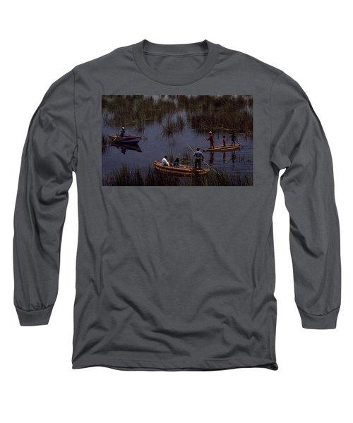 Lake Titicaca Reed Boats Long Sleeve T-Shirt