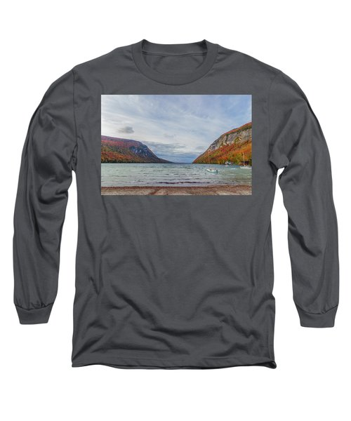Lake Willoughby Blustery Fall Day Long Sleeve T-Shirt