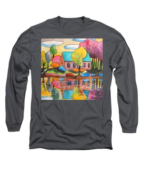 Lakeside Dream House Long Sleeve T-Shirt