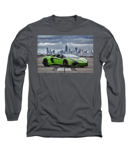 Long Sleeve T-Shirt featuring the photograph #lamborghini #aventadorsv #superveloce #roadster #print by ItzKirb Photography