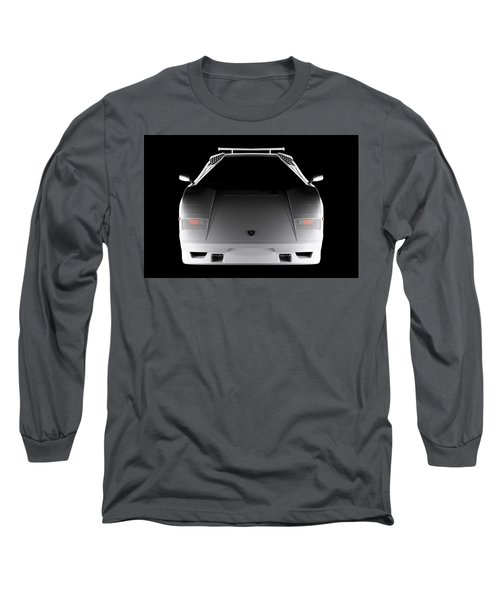 Lamborghini Countach 5000 Qv 25th Anniversary - Front View  Long Sleeve T-Shirt