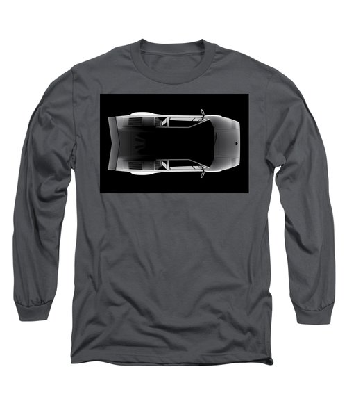 Lamborghini Countach 5000 Qv 25th Anniversary - Top View Long Sleeve T-Shirt