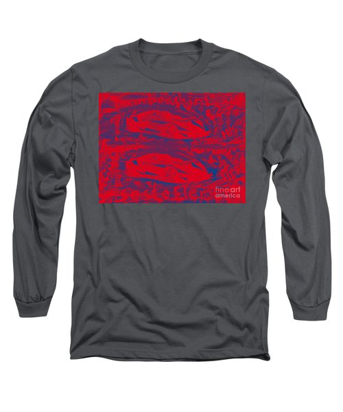 Long Sleeve T-Shirt featuring the painting Lamborghini Sesto Elemento Two Point Two Million His And Hers by Richard W Linford