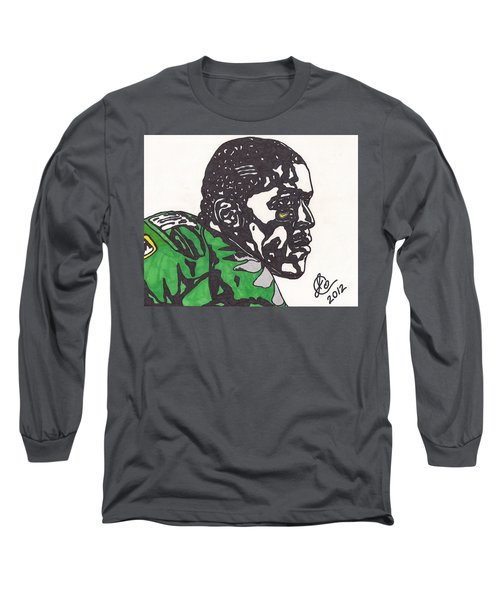 Long Sleeve T-Shirt featuring the drawing Lamicheal James 2 by Jeremiah Colley