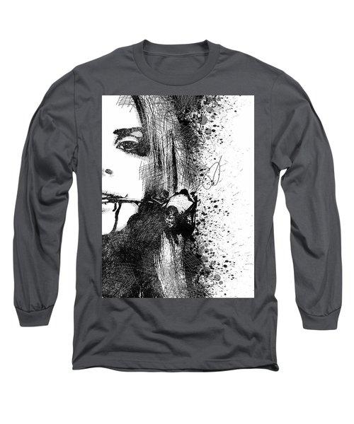 Lana Del Rey Half Face Portrait 2 Long Sleeve T-Shirt