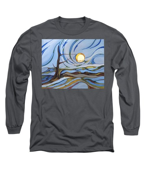Land Of The Midnight Sun Long Sleeve T-Shirt by Pat Purdy