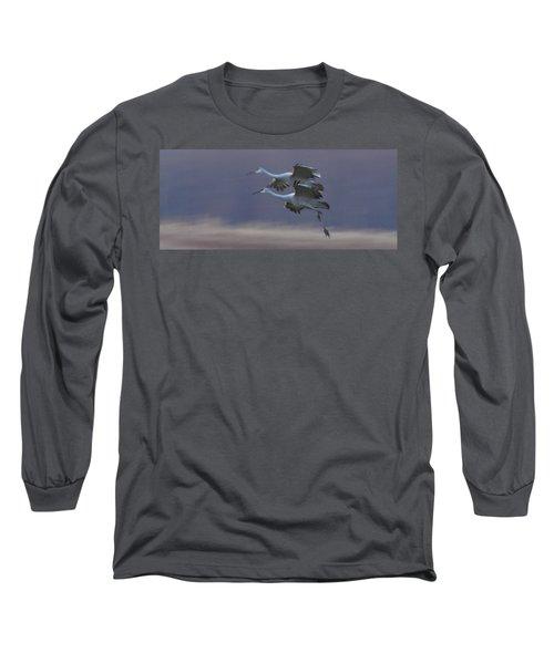 Landing Gear Down Long Sleeve T-Shirt by Shari Jardina
