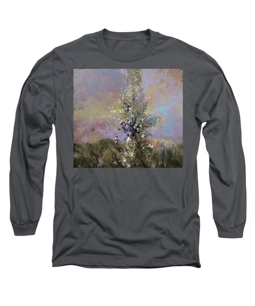 Landscape . I Was Lucky Today. Long Sleeve T-Shirt by Anastasija Kraineva