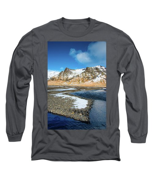 Landscape Sudurland South Iceland Long Sleeve T-Shirt by Matthias Hauser