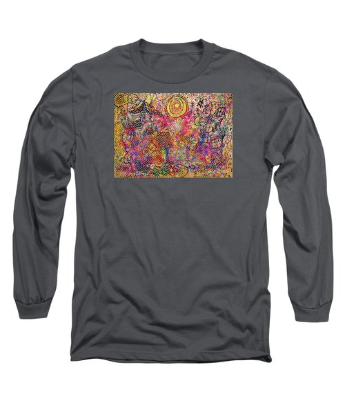 Landscape With Dots Long Sleeve T-Shirt by Mimulux patricia no No