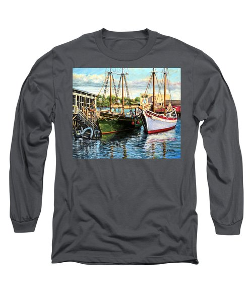 Lannon And Ardelle Gloucester Ma Long Sleeve T-Shirt by Eileen Patten Oliver