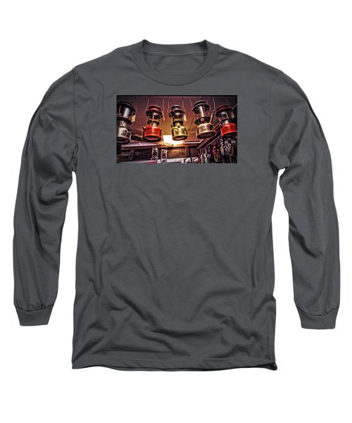 Lanterns For Sale Long Sleeve T-Shirt by Bonnie Bruno