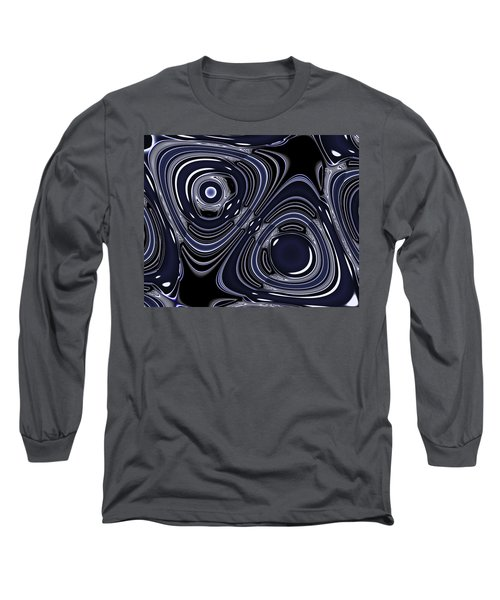 Lapis And Chrome Abstract Long Sleeve T-Shirt