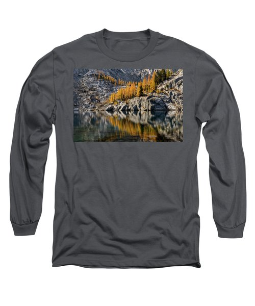 Larch Reflection In Enchantments Long Sleeve T-Shirt
