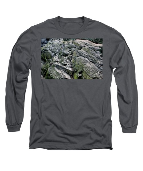 Large Rock At Central Park Long Sleeve T-Shirt