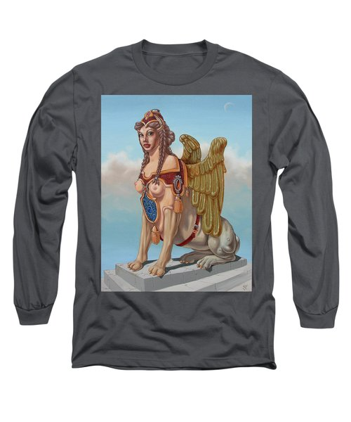 Large Sphinx Of The Vienna Belvedere Long Sleeve T-Shirt