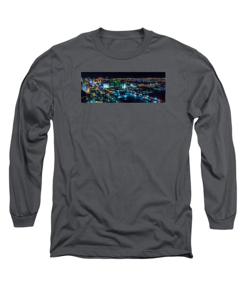 Long Sleeve T-Shirt featuring the photograph Las Vegas Looking North by Michael Rogers