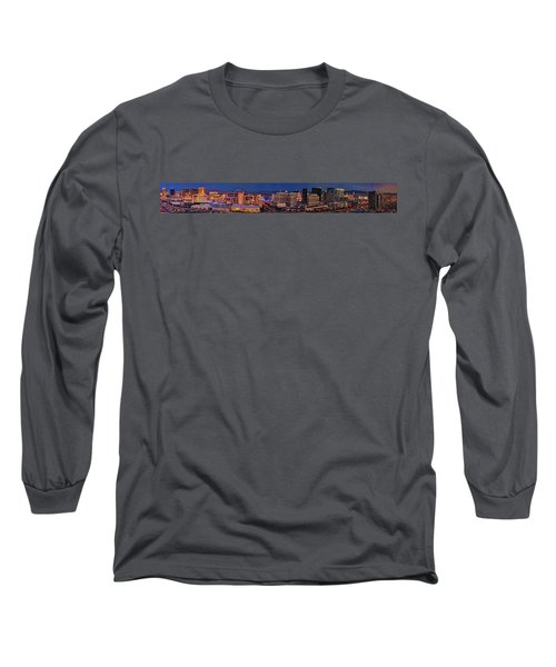 Long Sleeve T-Shirt featuring the photograph Las Vegas Panoramic Aerial View by Susan Candelario