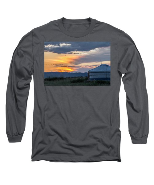 Long Sleeve T-Shirt featuring the photograph Last Golden Light, Elsen Tasarkhai, 2016 by Hitendra SINKAR