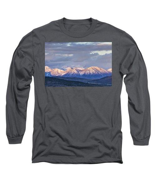 Last Light On Winter Peaks Long Sleeve T-Shirt