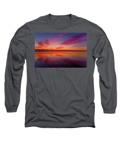 Last Light Topsail Beach Long Sleeve T-Shirt by Betsy Knapp