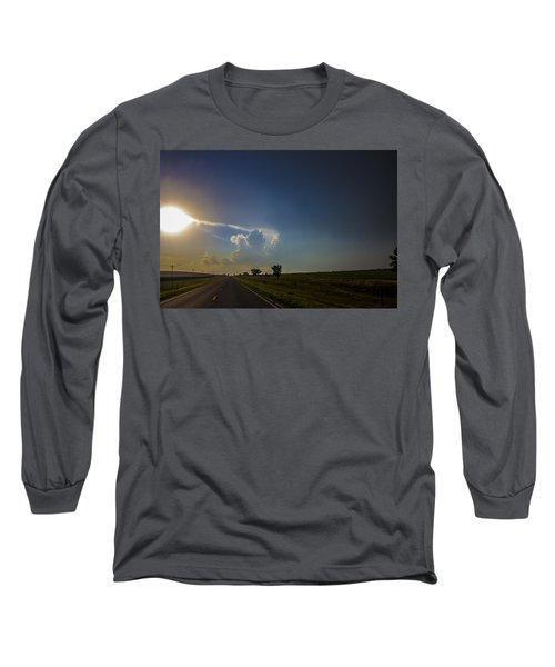 Last Nebraska Supercell Of The Summer 009 Long Sleeve T-Shirt