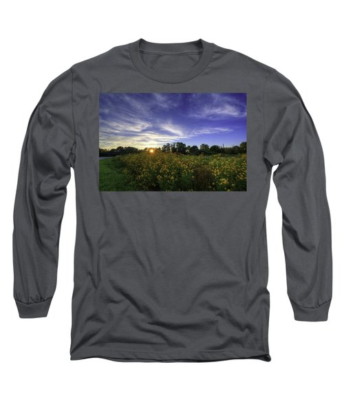 Last Rays Over The Flowers Long Sleeve T-Shirt