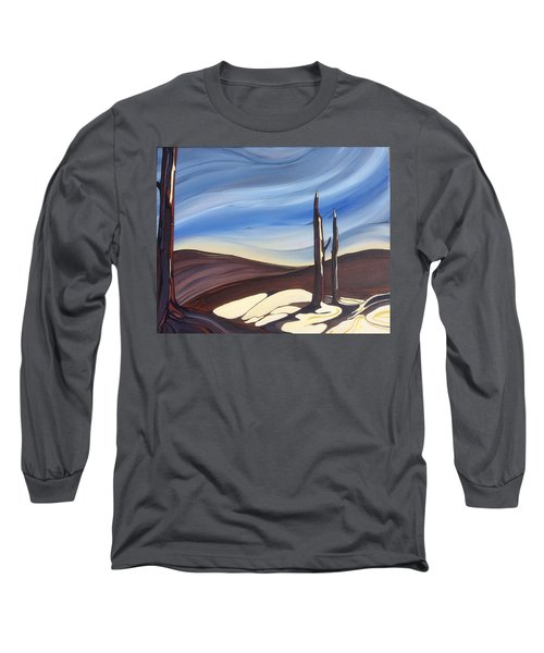 Last Snow Long Sleeve T-Shirt by Pat Purdy