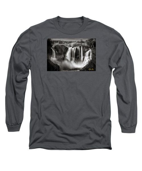 Late Afternoon At The High Falls Long Sleeve T-Shirt by Rikk Flohr