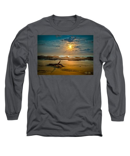 Long Sleeve T-Shirt featuring the photograph Late Afternoon Costa Rican Beach Scene by Rikk Flohr