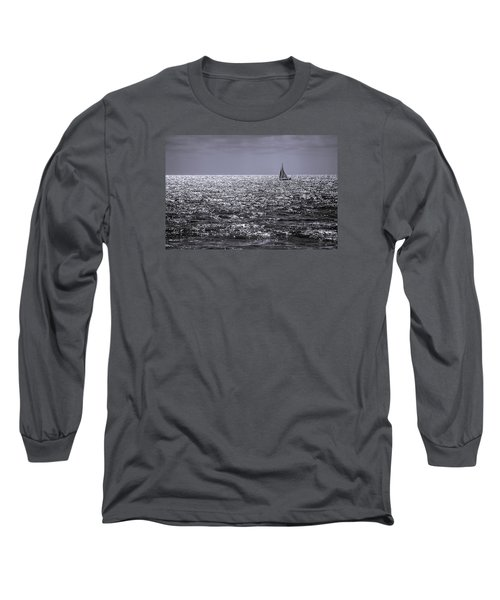 Sailboat Off The Coast At San Diego Long Sleeve T-Shirt