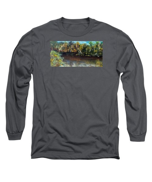 Long Sleeve T-Shirt featuring the painting late in the Day on Blue Creek by Jim Phillips